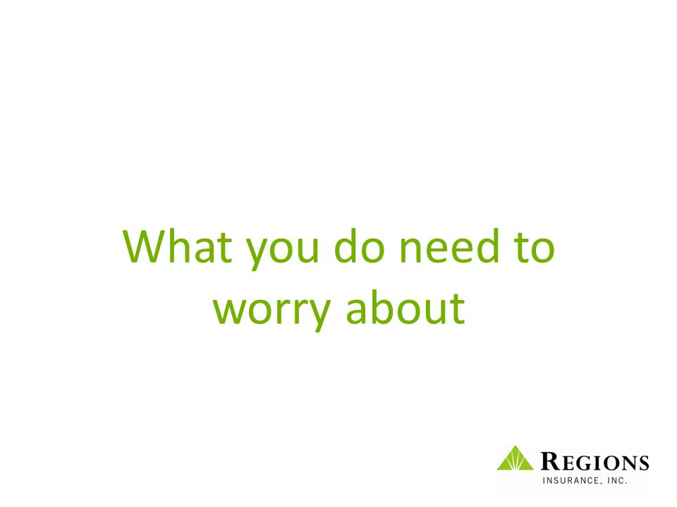 What you do need to worry about