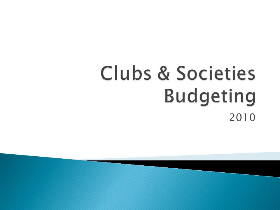  Now – Club budget system opens  08/02/2010 – CLUB BUDGET SYSTEM CLOSES  22/03/2010 – Club officers informed of allocation  03/03/2010 – Deadline for appeals to RCC  04/05/2010 – Deadline for appeals to CSB  27/05/2010 – Deadline for appeals to UEC