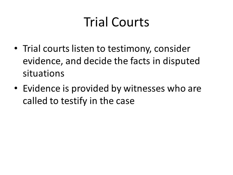 Parties In a trial court there are two parties In a civil trial, the party who brings the legal action is called the plaintiff In a criminal trial, the government(state or federal) initiates the case and serves as the prosecutor In both civil and criminal trials, the party responding to the plaintiff or prosecutor is called the defendant