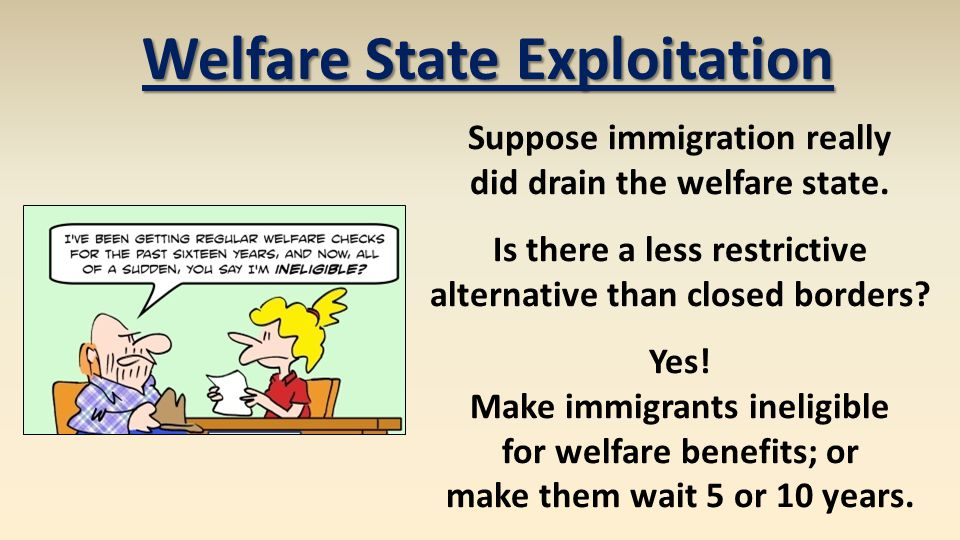 Suppose immigration really did drain the welfare state.
