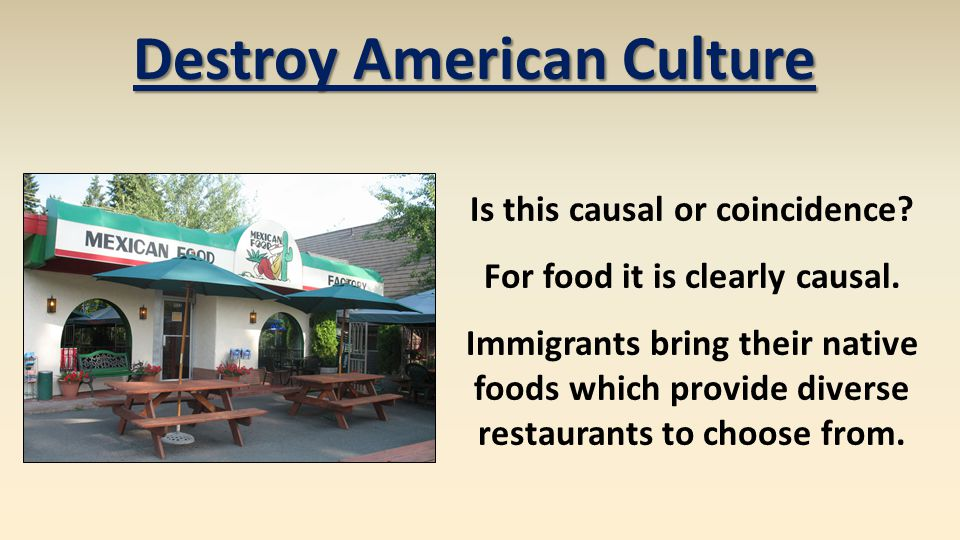 Destroy American Culture Is this causal or coincidence.