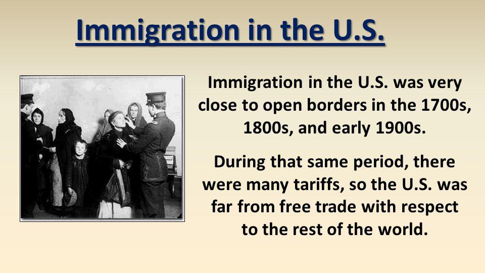 Immigration in the U.S. Immigration in the U.S.