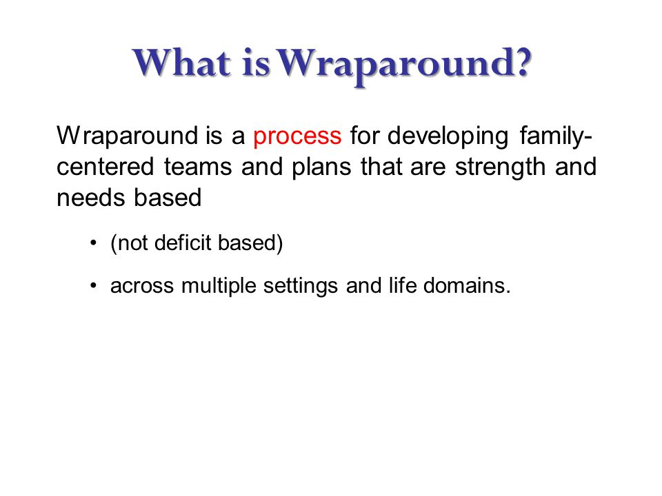 What is Wraparound.