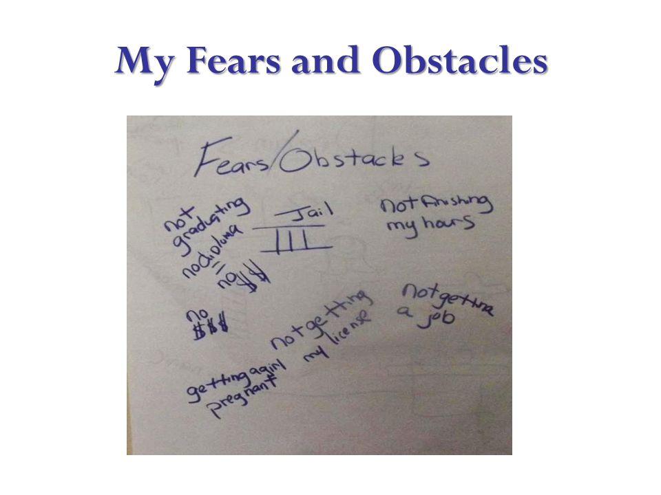 My Fears and Obstacles