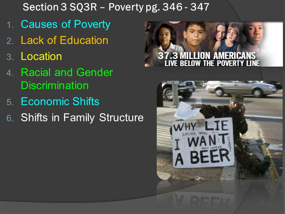 Antipoverty Policies  1996 – President Clinton signed welfare reform  Block Grants – lump sums of money to the states to assist poor, 5 year limit t