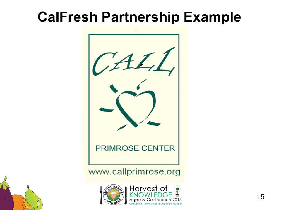 CalFresh Partnership Example 15