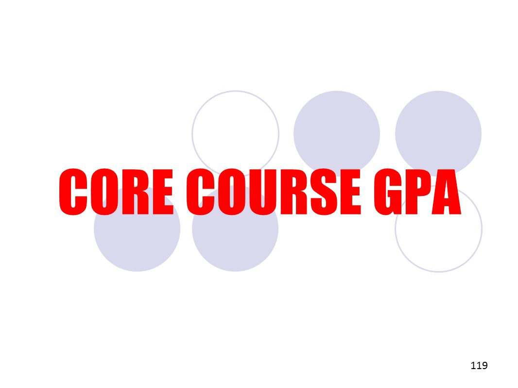 CORE COURSE GPA 119