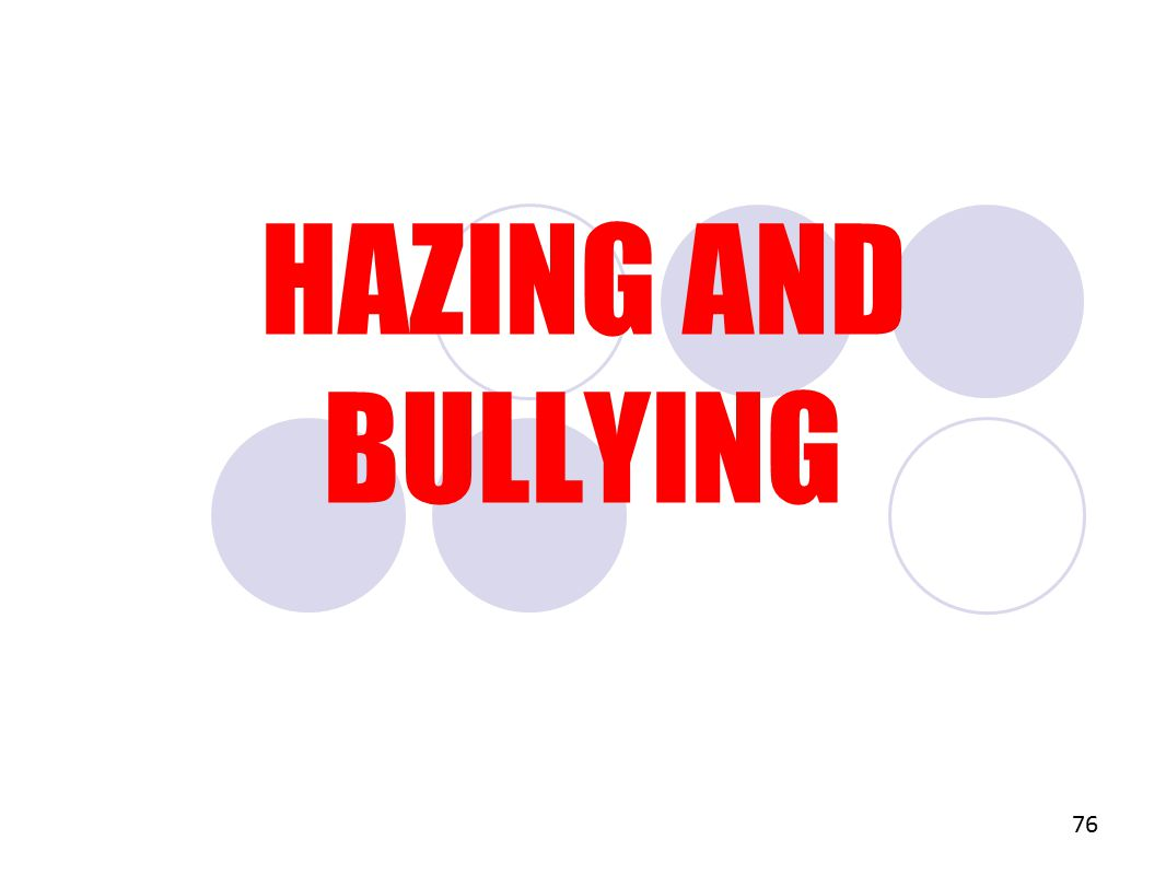 HAZING AND BULLYING 76