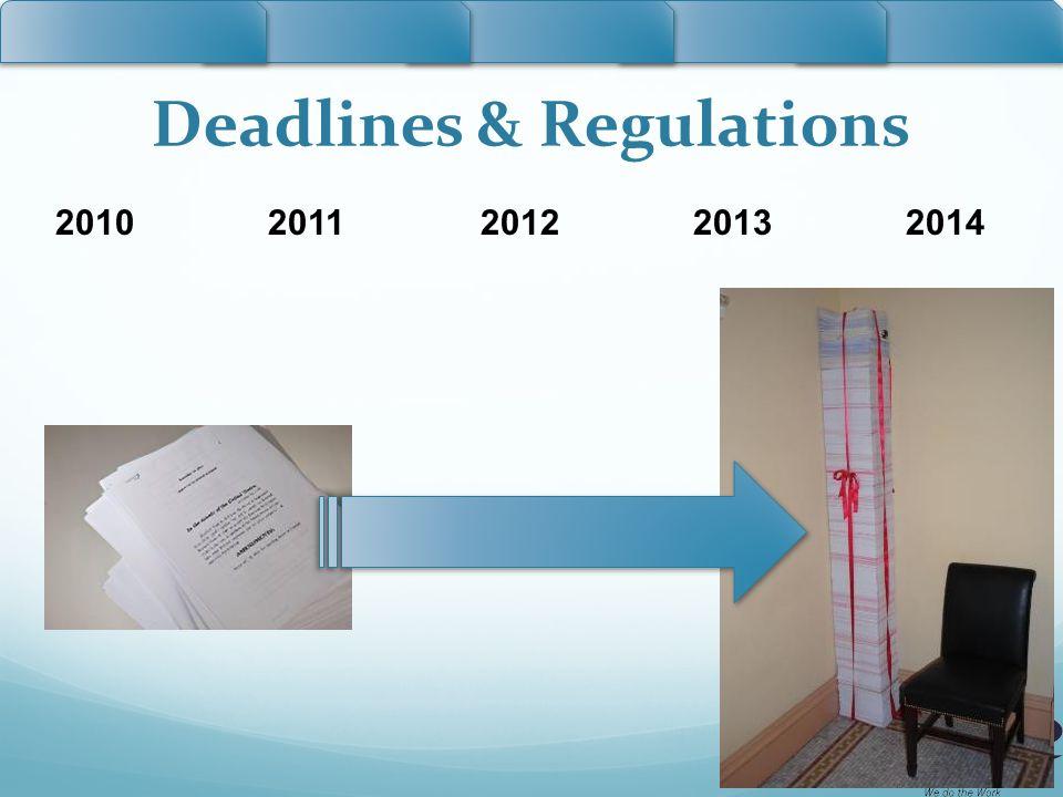 Deadlines & Regulations 20102011201220132014