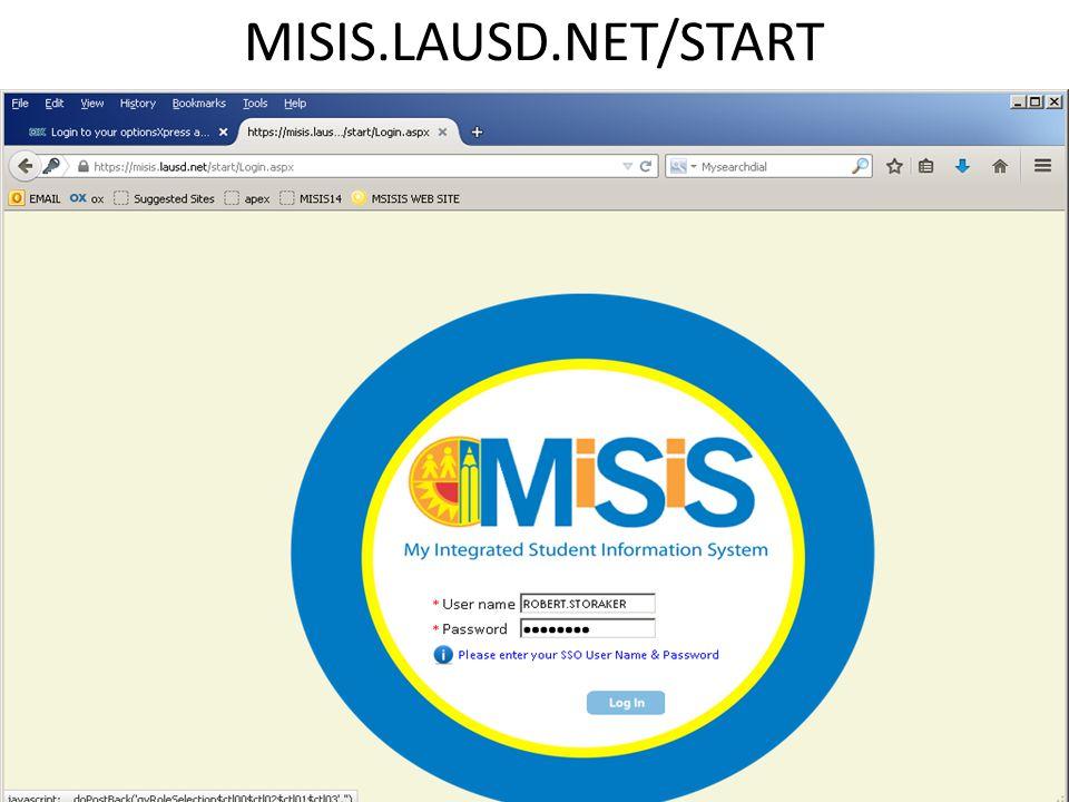 MISIS.LAUSD.NET/START