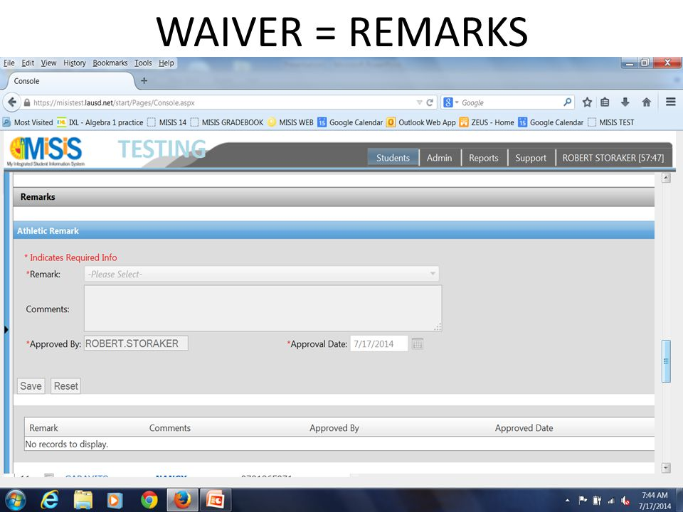 WAIVER = REMARKS