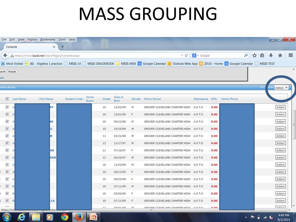 MASS GROUPING