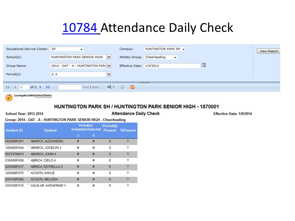 1078410784 Attendance Daily Check