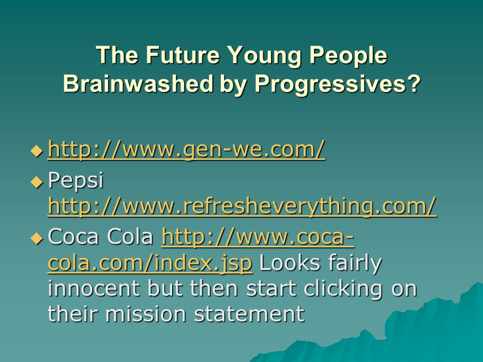 The Future Young People Brainwashed by Progressives.