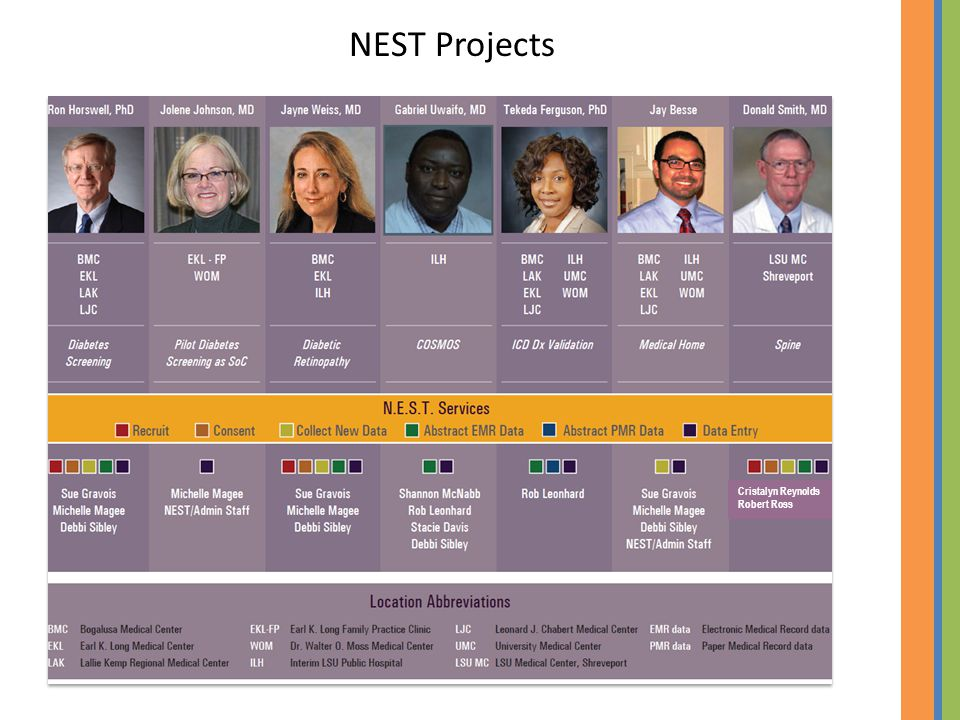 NEST Projects Cristalyn Reynolds Robert Ross