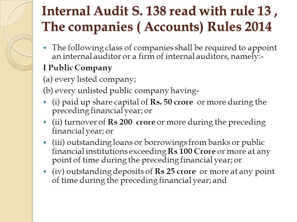 Internal Audit S.