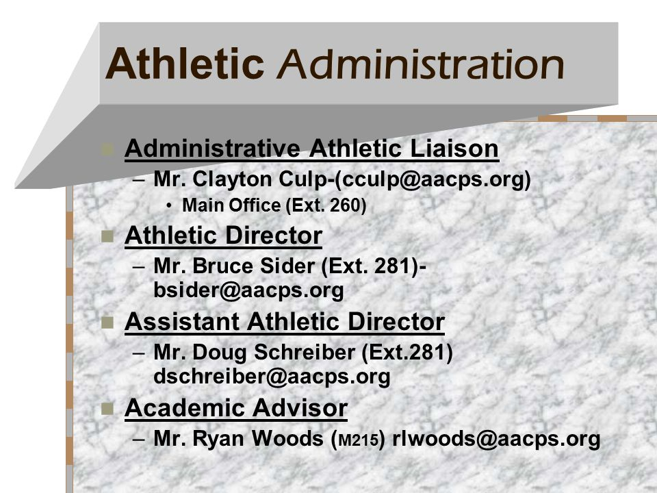 AACPS POLICY Any conduct deemed detrimental to the student athlete, team and/or overall good of the program, anytime, on and off campus, can result in penalties ranging from verbal reprimand to expulsion from the team