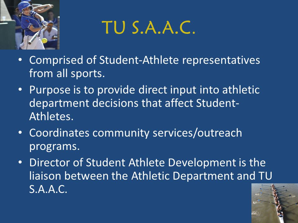 The University of Tulsa Drug Testing Policy (UTDP) Participation is mandatory for all student athletes.