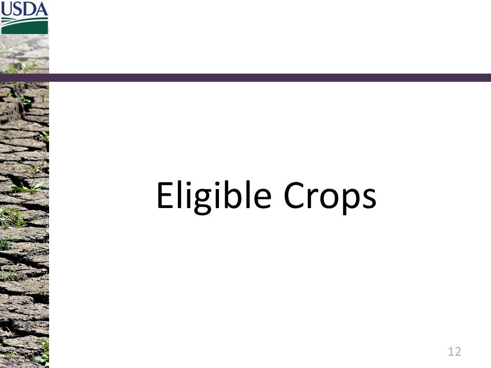 Eligible Crops 12
