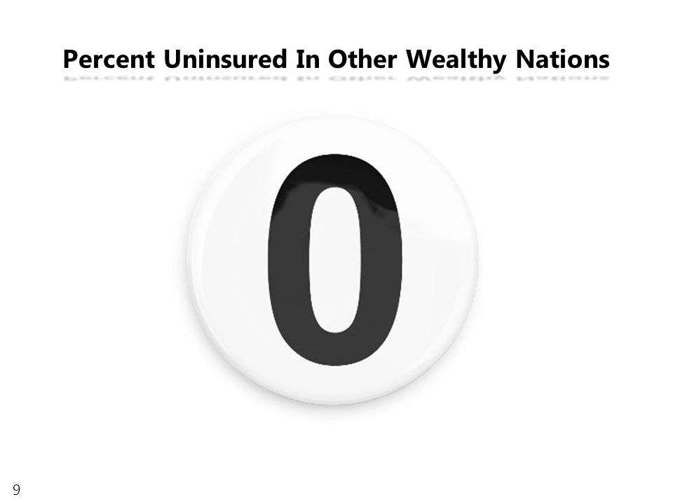 9 Percent Uninsured In Other Wealthy Nations