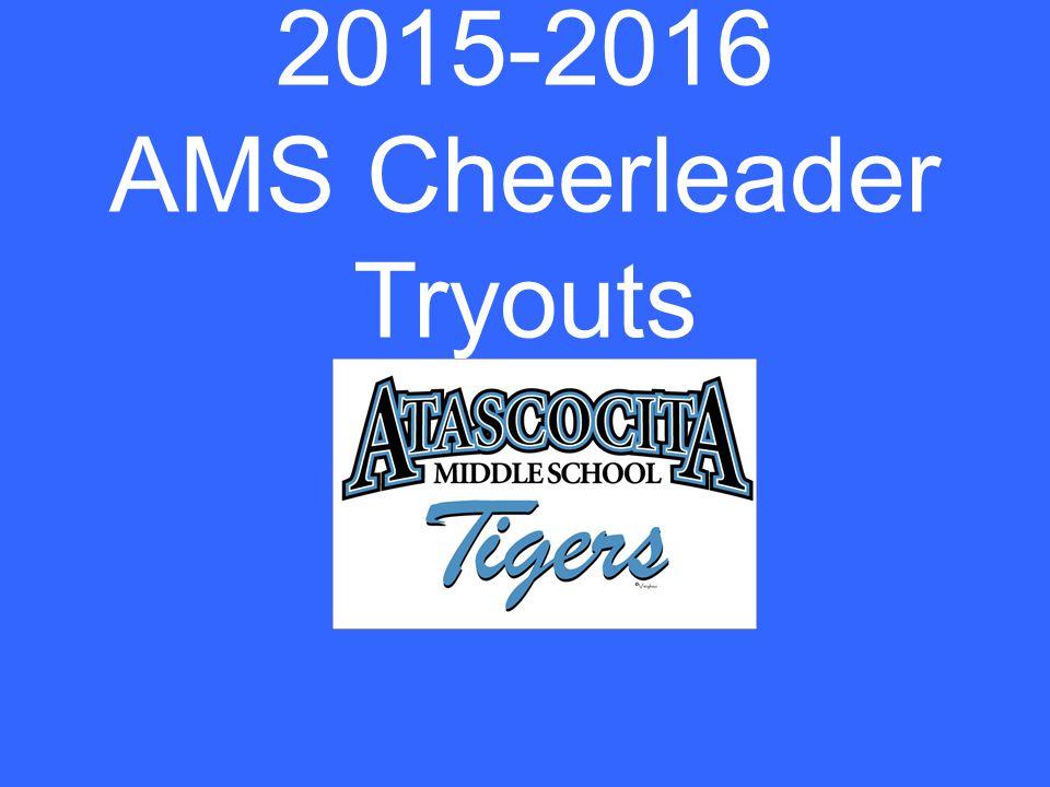 2015-2016 AMS Cheerleader Tryouts