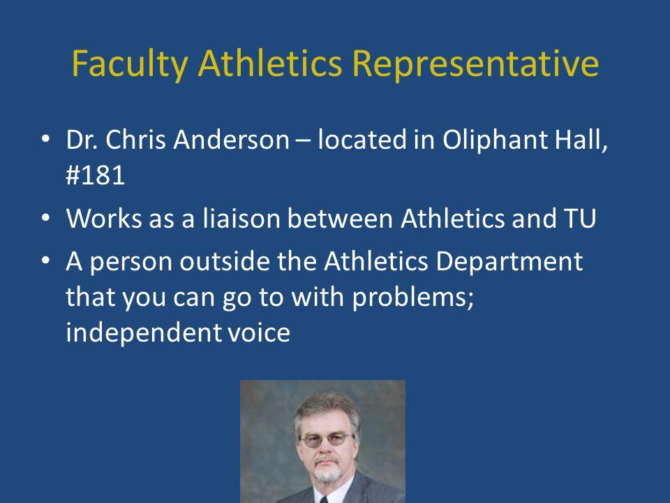 Faculty Athletics Representative Dr.