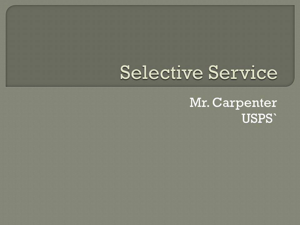 Mr. Carpenter USPS`