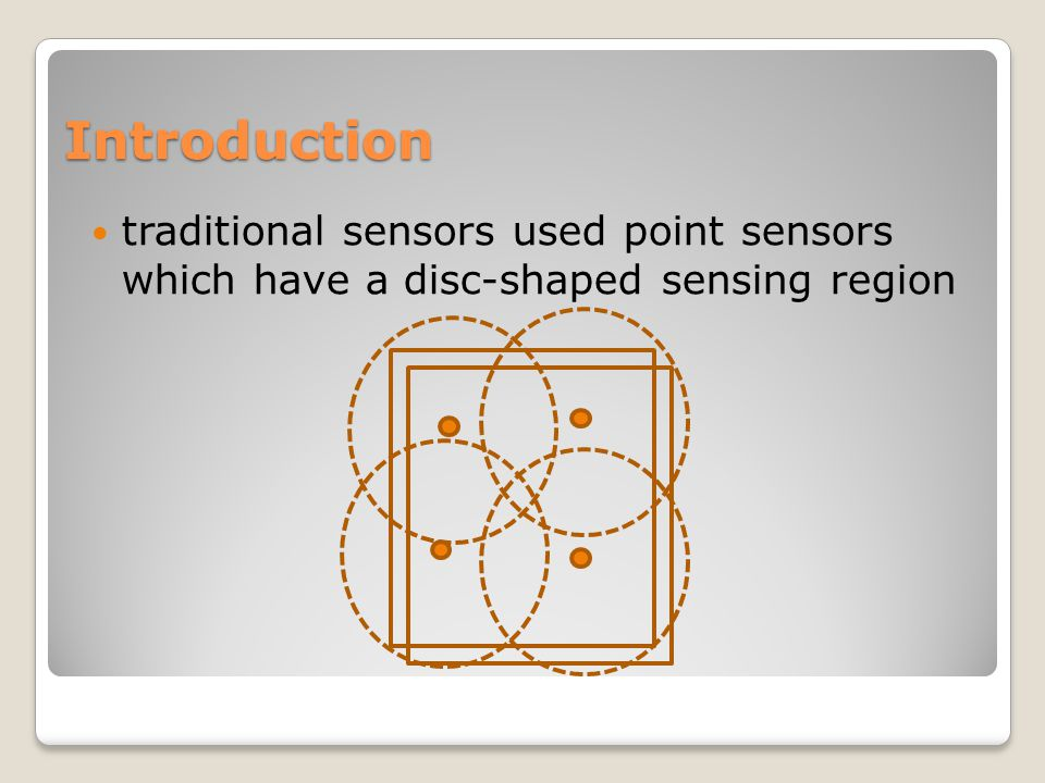 Introduction traditional sensors used point sensors which have a disc-shaped sensing region
