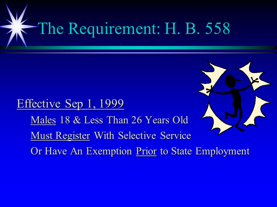 The Requirement: H.B.