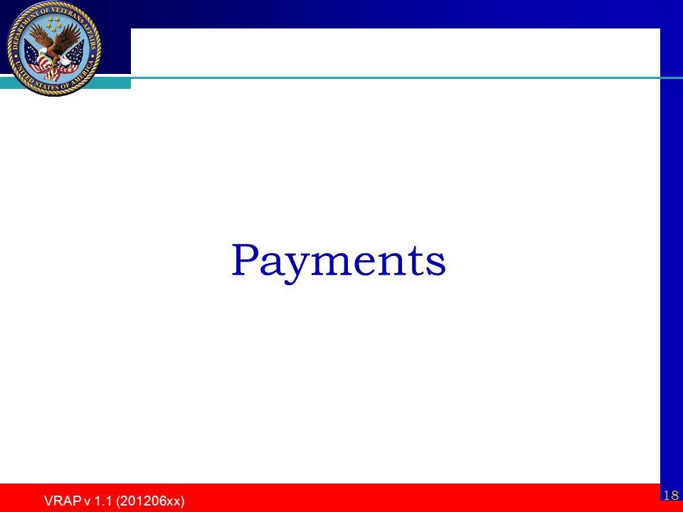 18 VRAP v 1.1 (201206xx) Payments