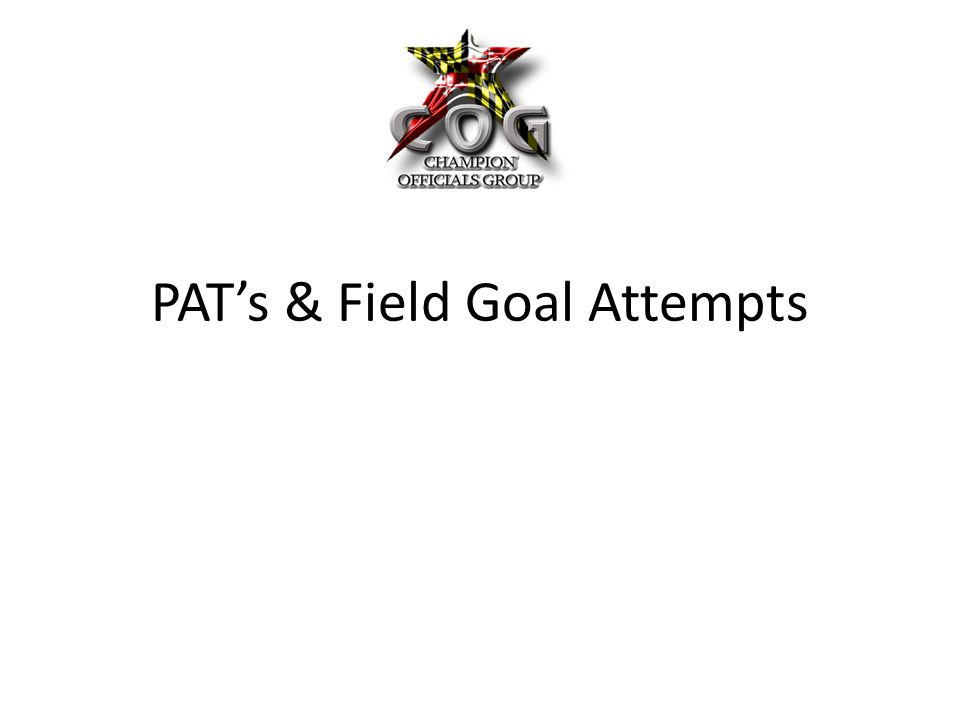PAT's & Field Goal Attempts