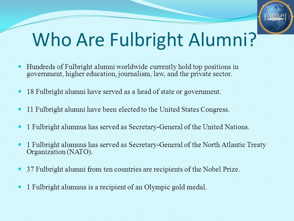 Who Are Fulbright Alumni.