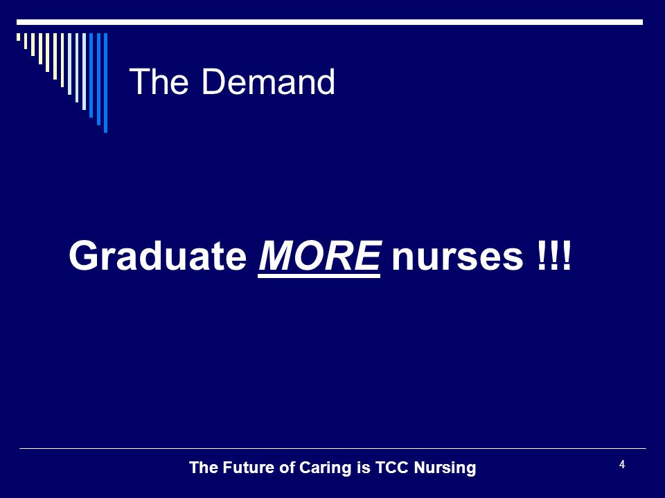 The Future of Caring is TCC Nursing 5 Who are our students.