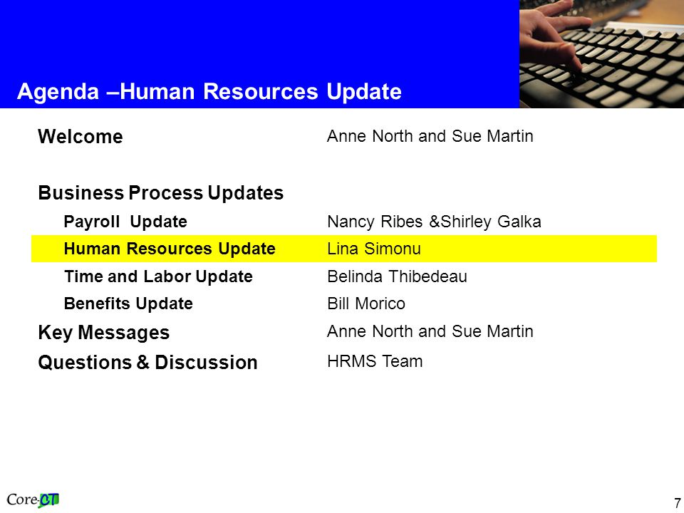 8 Human Resources Update Mass Salary Increases Please note the following dates: –Employees in the P-4 (Salary Plan EE) with a January AI on Step 12 as of 6/25/2004 were manually switched to the EF Salary Plan on 6/25/2004 –These employees must be manually switched back to the EE Salary Plan and given a January AI; instructions will be forthcoming –Next annual increases are effective 12/24/2004 –Preliminary reports were processed on 11/24/2004 –Final reports and processing will take place on 12/28/2004