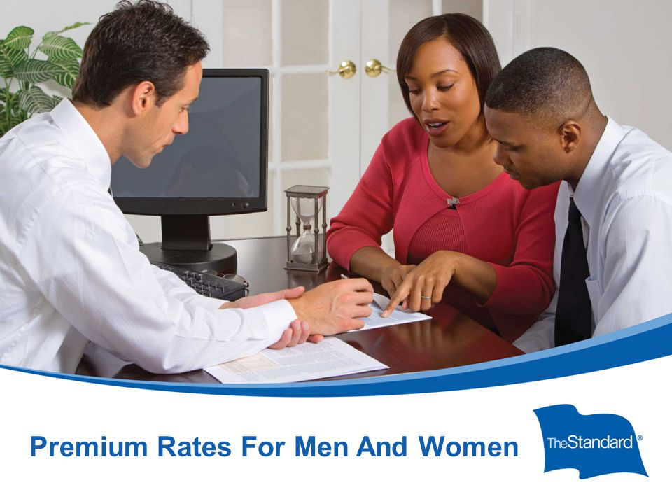 © 2010 Standard Insurance Company 17232PPT (Rev 6/14) SI/SNY Premium Rates For Men And Women