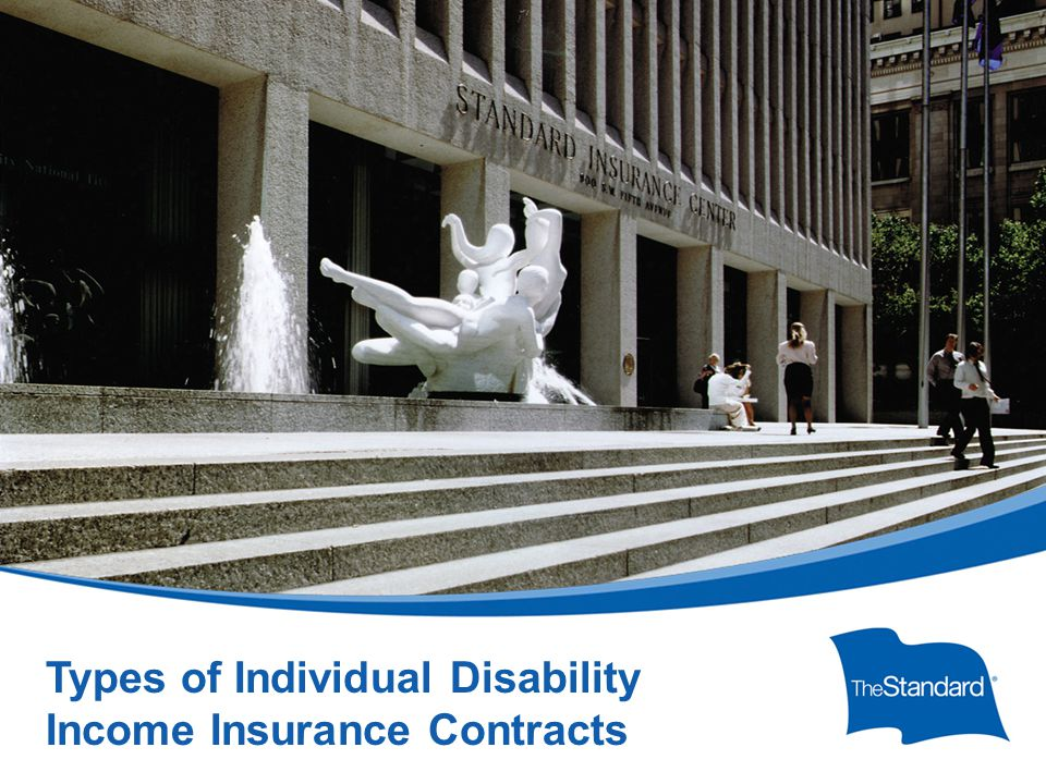 © 2010 Standard Insurance Company 17232PPT (Rev 6/14) SI/SNY Types of Individual Disability Income Insurance Contracts