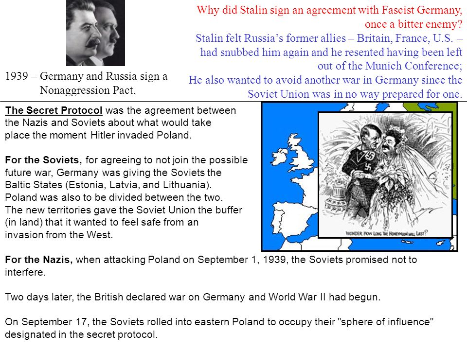 The Secret Protocol was the agreement between the Nazis and Soviets about what would take place the moment Hitler invaded Poland. For the Soviets, for