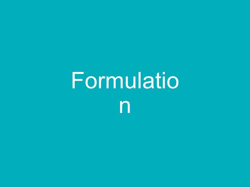 Formulatio n