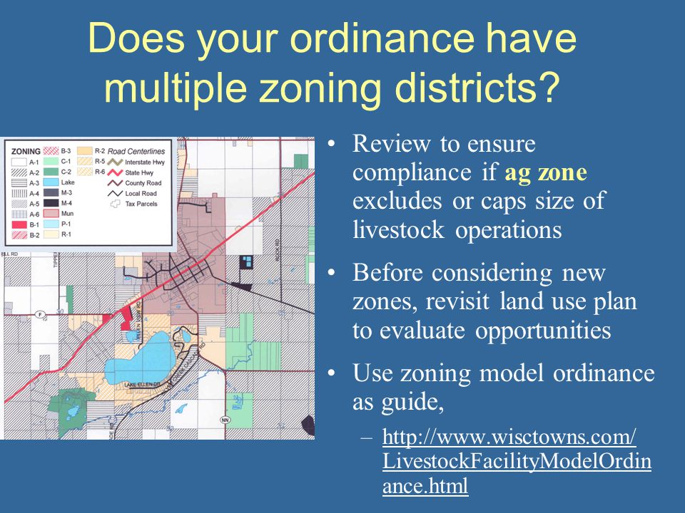Does your ordinance have multiple zoning districts.