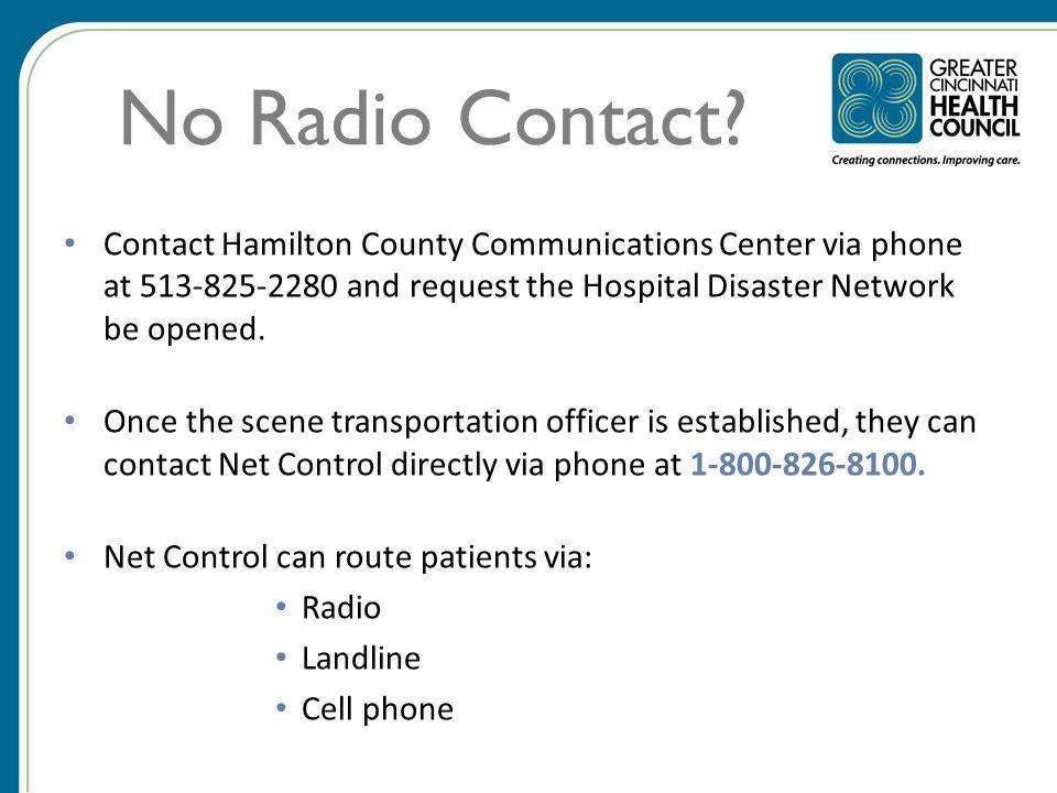 No Radio Contact.
