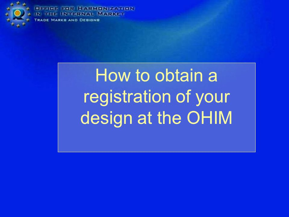 The Registered Community Design and OHIM