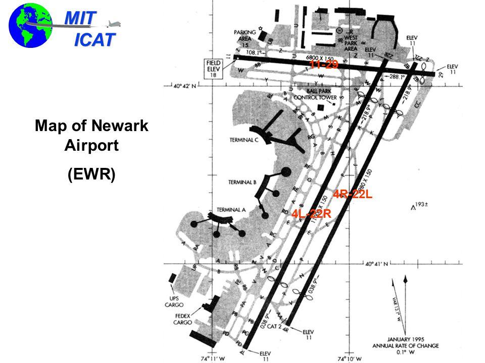MIT ICAT MIT ICAT New York City Airspace With Primary EWR Departure Fixes/Jet-routes ELIOT PARKE LANNA BIGGY WHITE COATE GAYEL GREKI MERIT JFK EWR LGA J95 J36 J60 J80 J6 J48 J75 J209 TEB