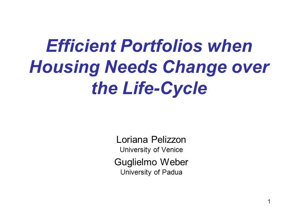 1 Efficient Portfolios when Housing Needs Change over the Life-Cycle Loriana Pelizzon University of Venice Guglielmo Weber University of Padua