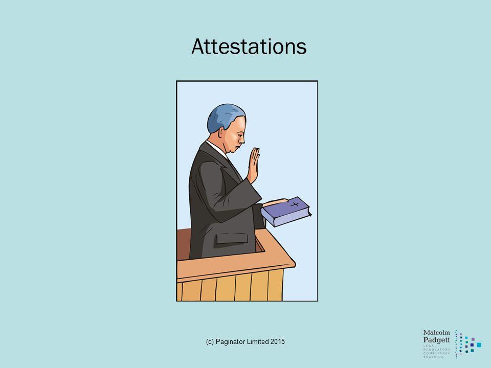 Attestations (c) Paginator Limited 2015