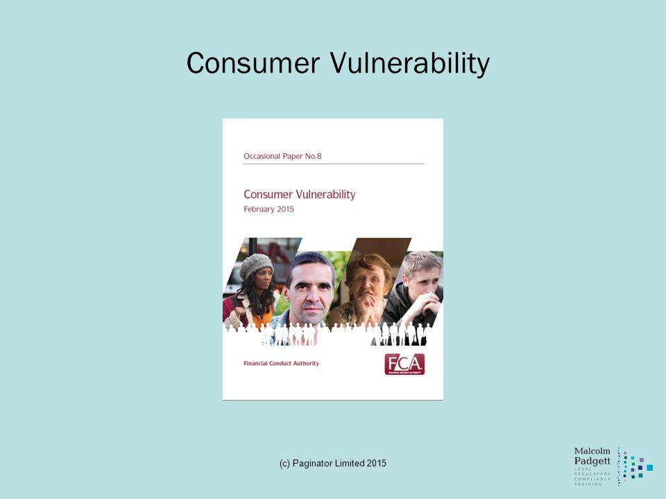 Consumer Vulnerability