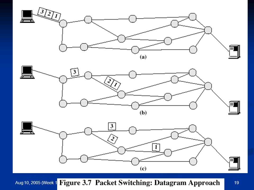 Aug 10, 2005 (Week 1) 19Introduction/Basic Concept Packet Switching
