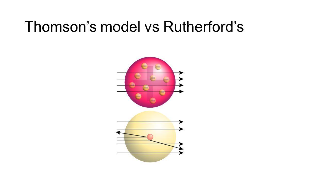 Thomson's model vs Rutherford's