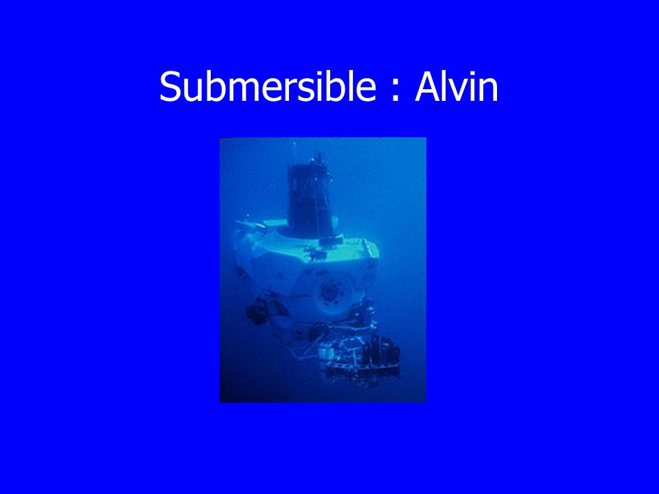 Submersible : Alvin