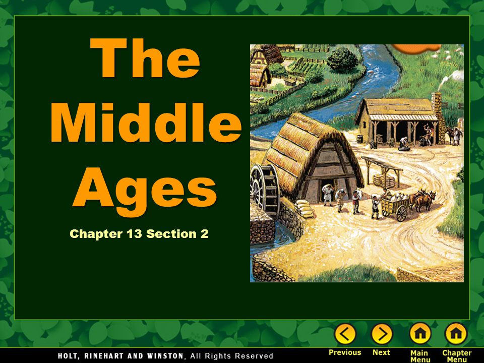 The Middle Ages Chapter 13 Section 2