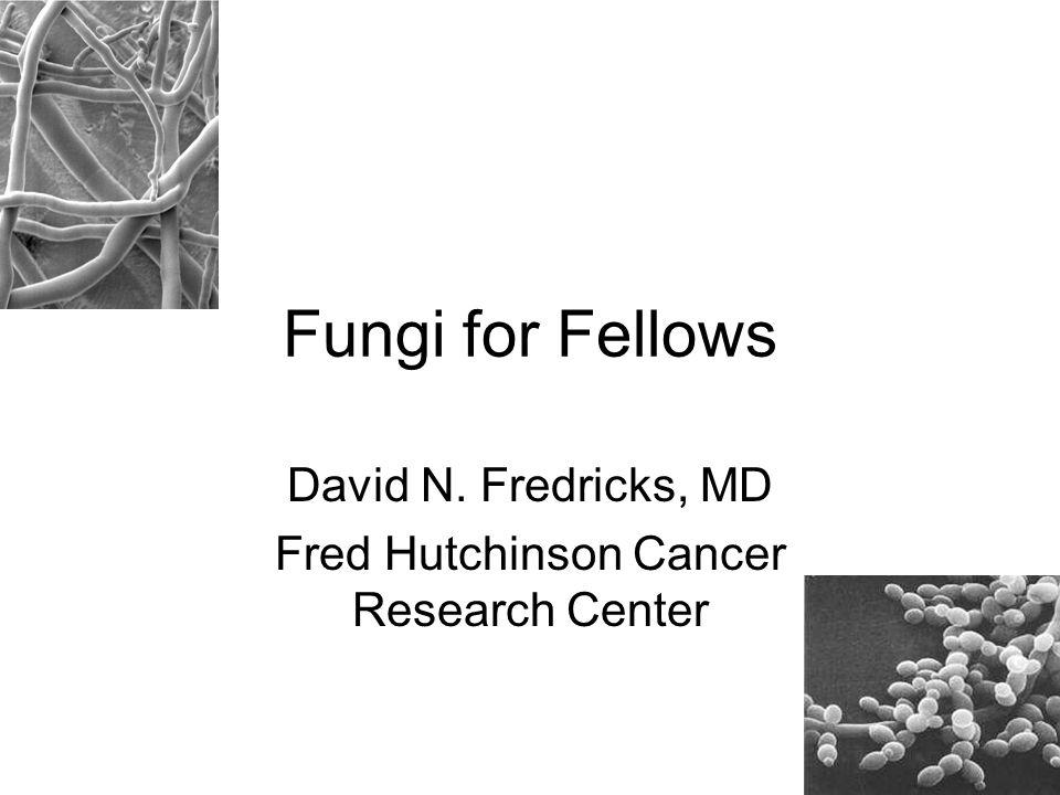 Fungi for Fellows David N. Fredricks, MD Fred Hutchinson Cancer Research Center